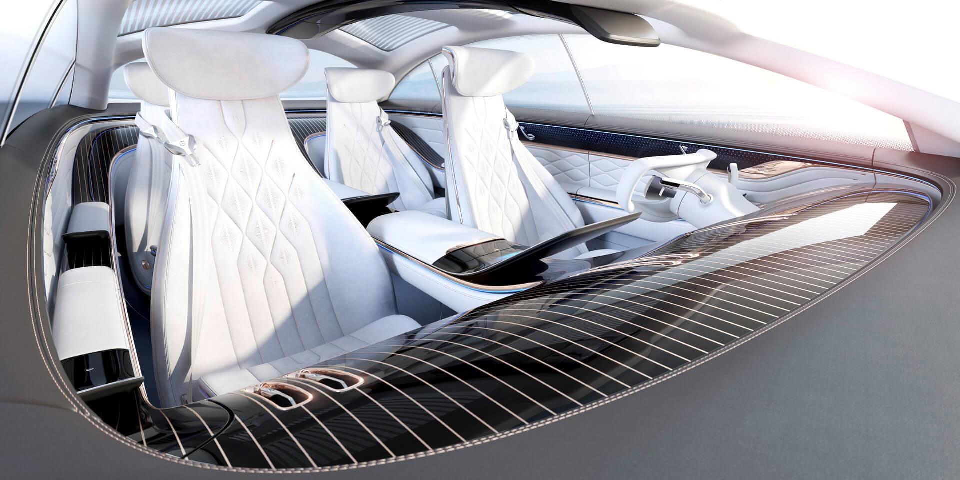 Дизайн интерьера Mercedes-Benz VISION EQS