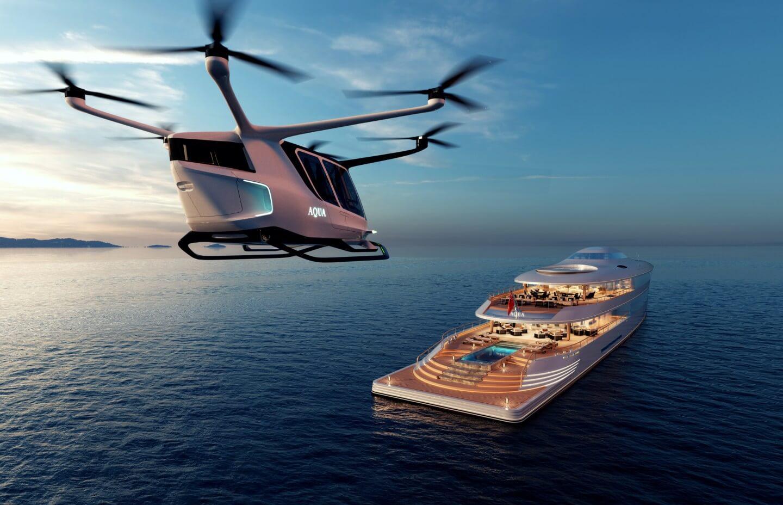 На Sinot Aqua присутствует вертолетная площадка
