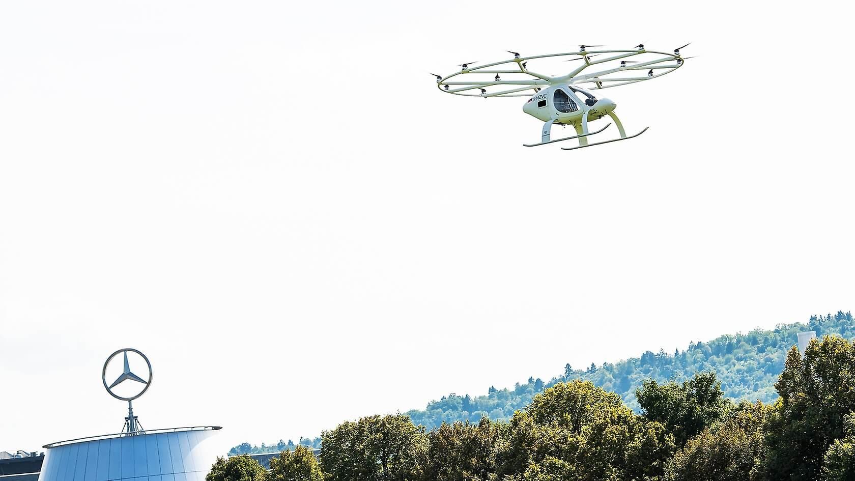 Первый городской полет электротакси Volocopter в Европе