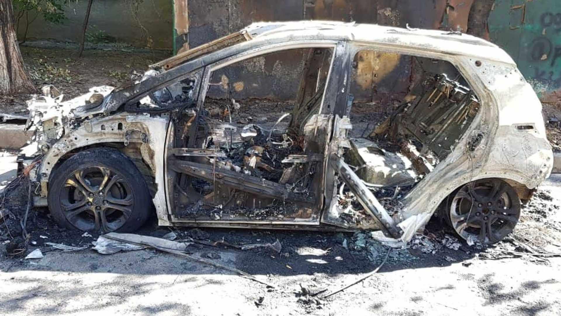 Один из случаев возгорания Chevrolet Bolt зафиксирован в Киеве