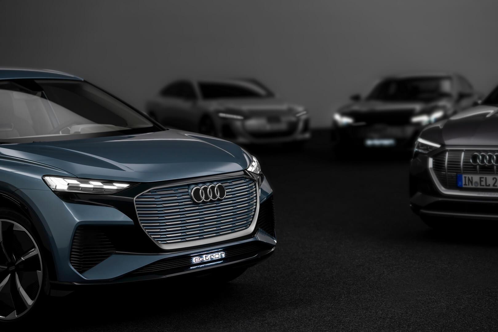 Audi демонстрирует тизер 4-х дверного электрического купе