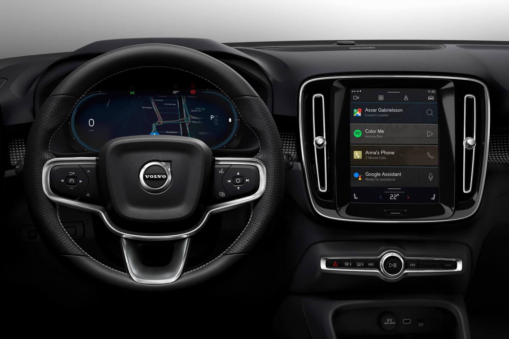 Информационно-развлекательная система в Volvo XC40 на базе Android со встроенными технологиями Google