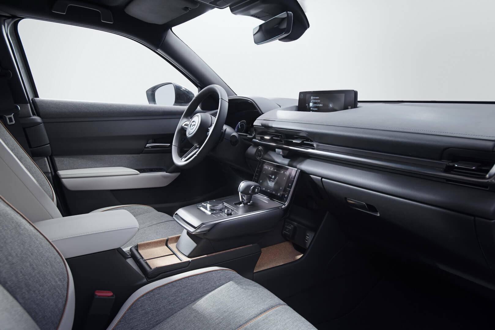 Интерьер электромобиля Mazda MX-30