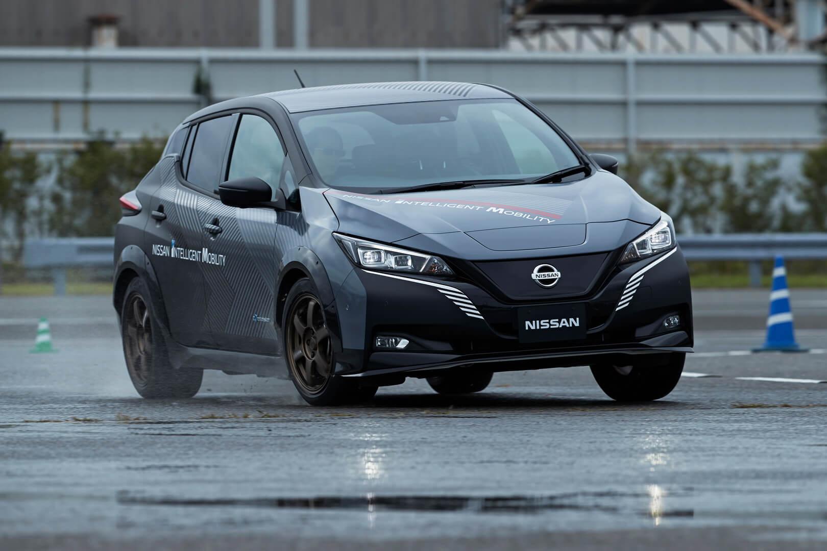 Тестовый электромобиль Nissan LEAF e+ с технологией управления полным приводом e-4ORCE