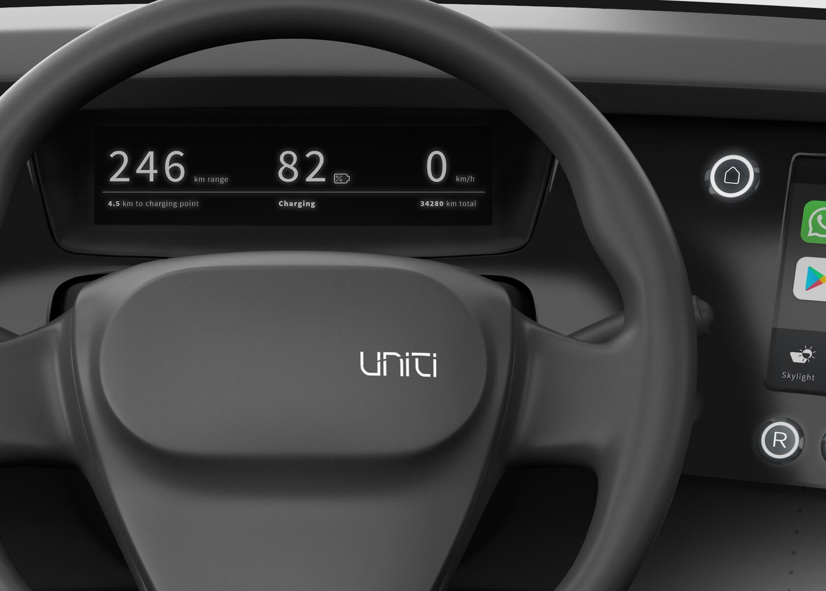 Приборная панель электромобиля Uniti One