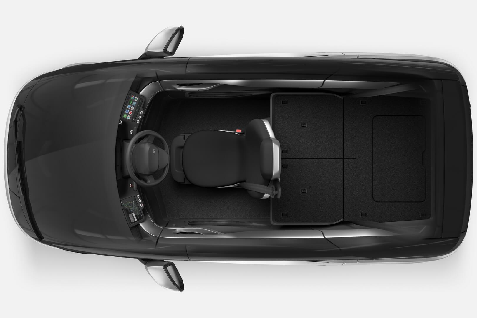 ВOne можно увеличить багажное отделение до760литров, если сложить задние сидения