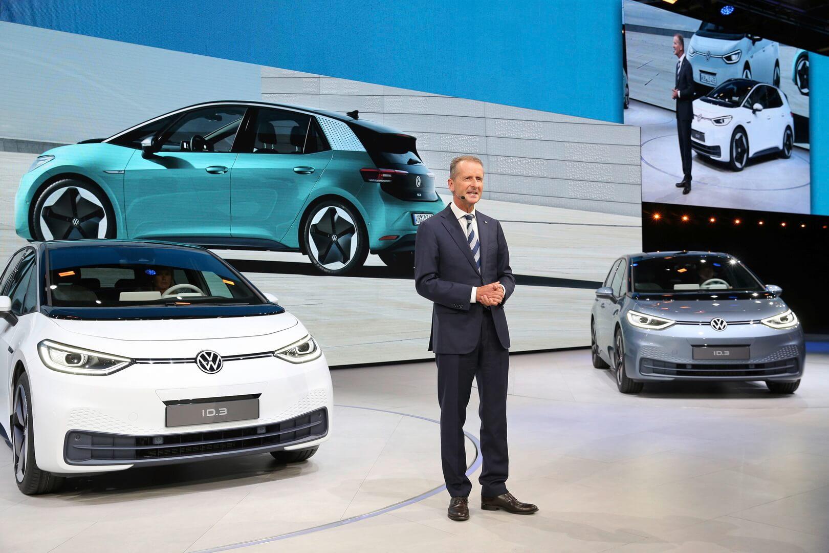 Герберт Дисс на презентации Volkswagen ID.3