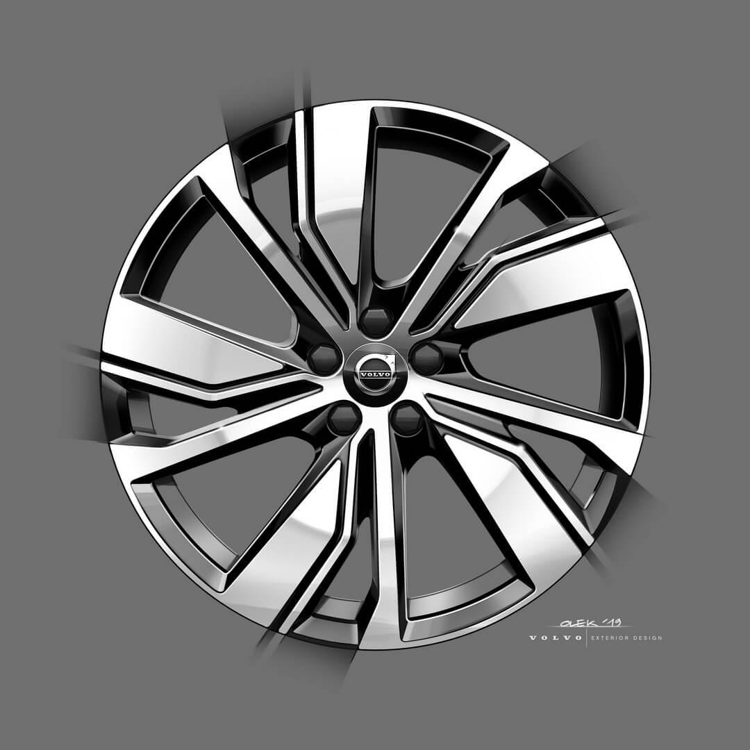 Два новых варианта колесных дисков (19 и 20 дюймов) для электрического кроссовера XC40