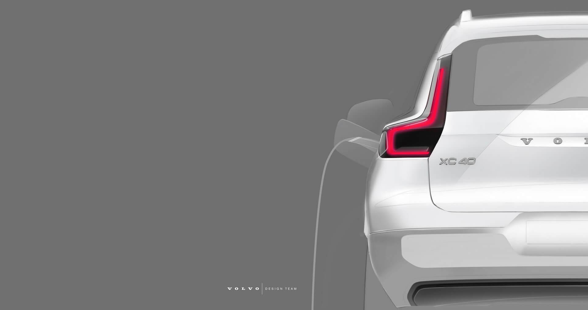 Тизер электрического кроссовера Volvo XC40