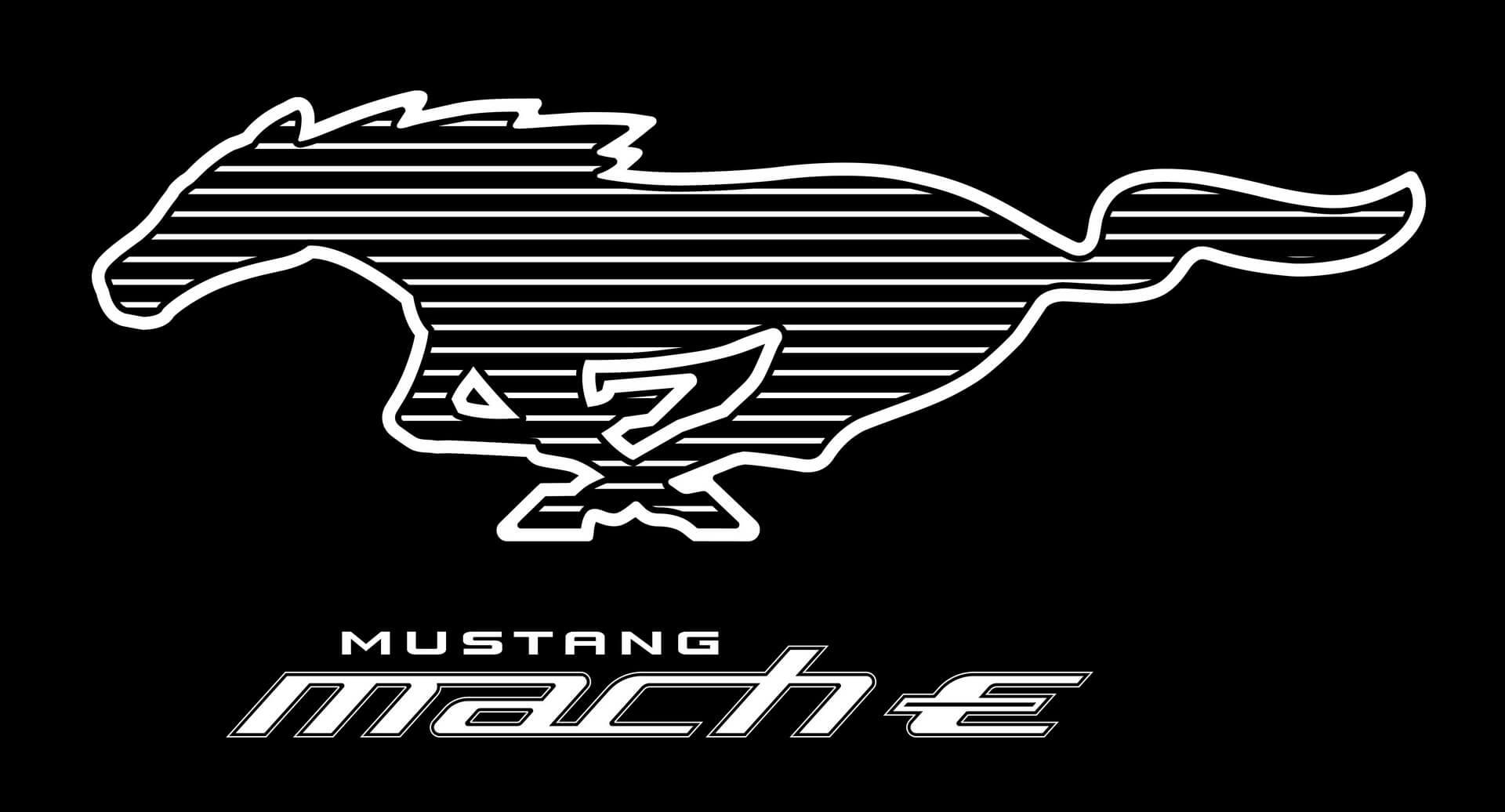 Логотип Mustang Mach-E Pony White Stripe