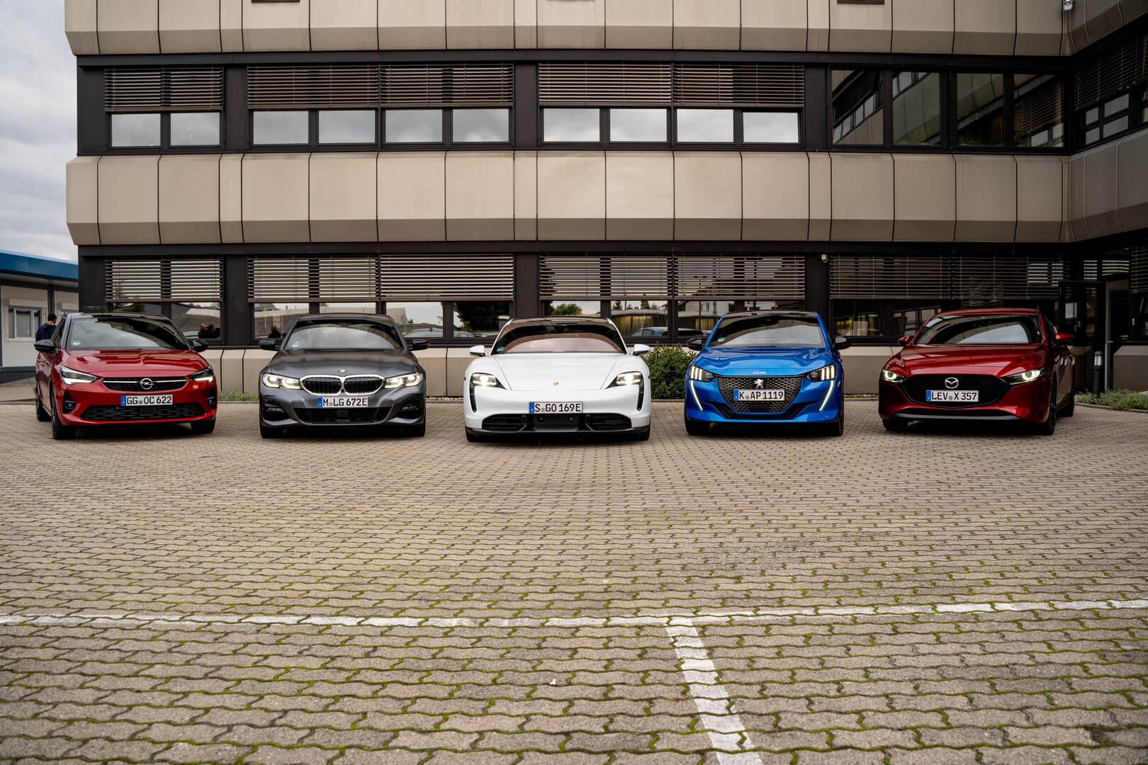Претенденты на награду «Автомобиль года» в Германии: Opel Corsa, BMW 3 Series, Porsche Taycan, Mazda 3 и Peugeot 208