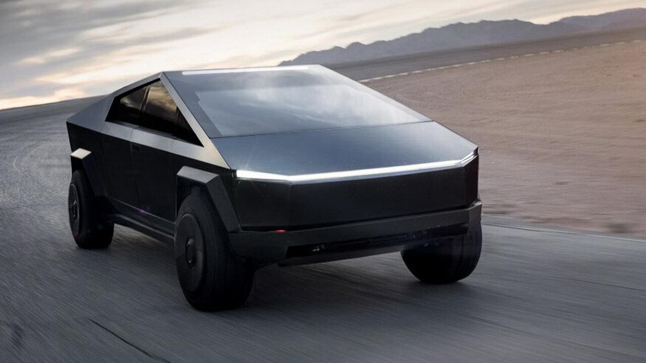 Tesla Cybertruck черного цвета