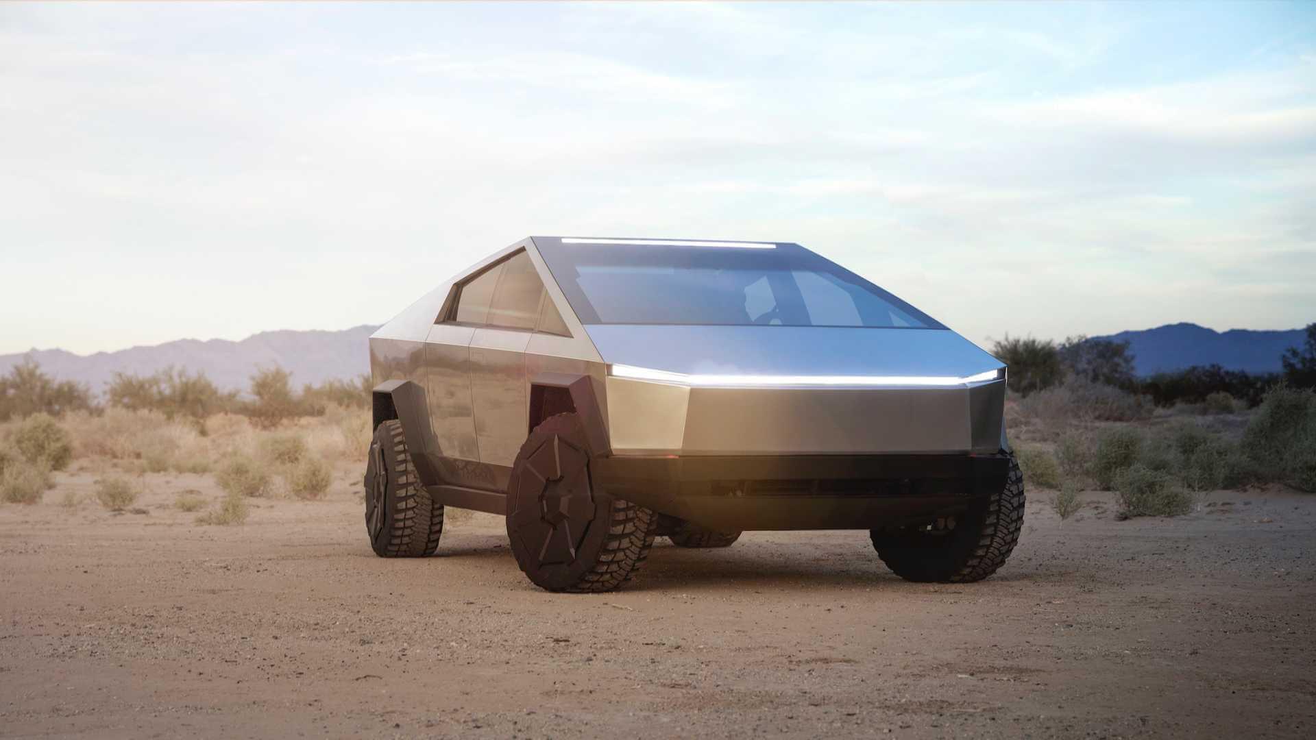 Электрический пикап Tesla Cybertruck