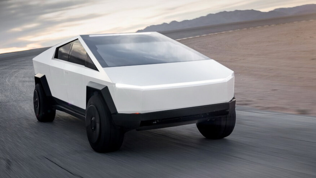 Tesla Cybertruck белого цвета