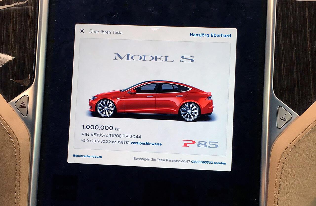 Рекордный миллион километров проехала Tesla Model S P85 и попала в Книгу рекордов Гиннесса