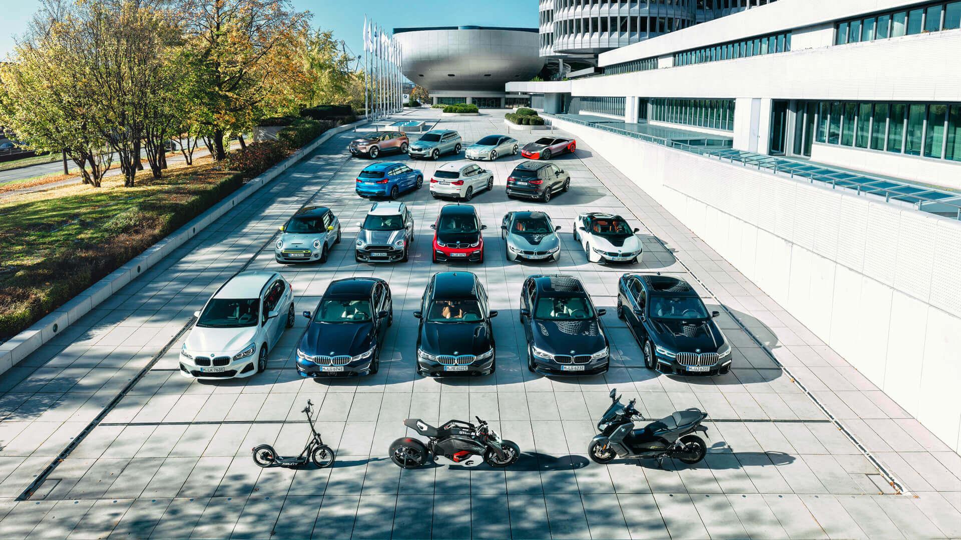 Электрифицированная линейка BMW Group