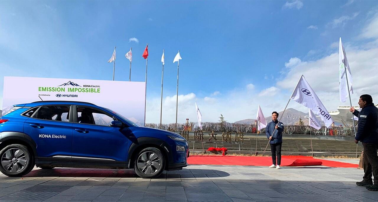 Hyundai KONA Electric поднимется в базовый лагерь горы Эверест