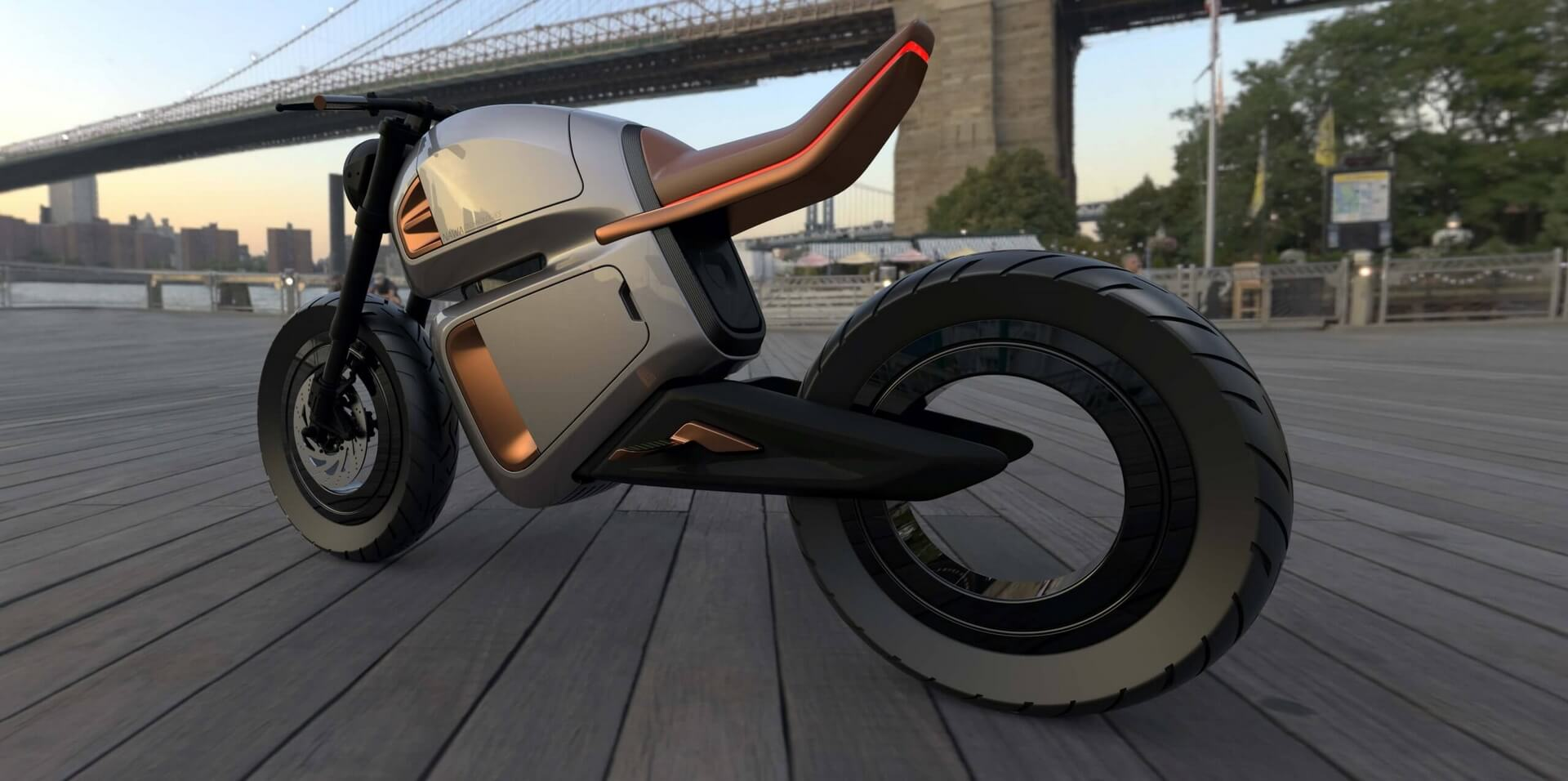 Nawa представляет гибридный электрический мотоцикл с ультраконденсаторами нового поколения