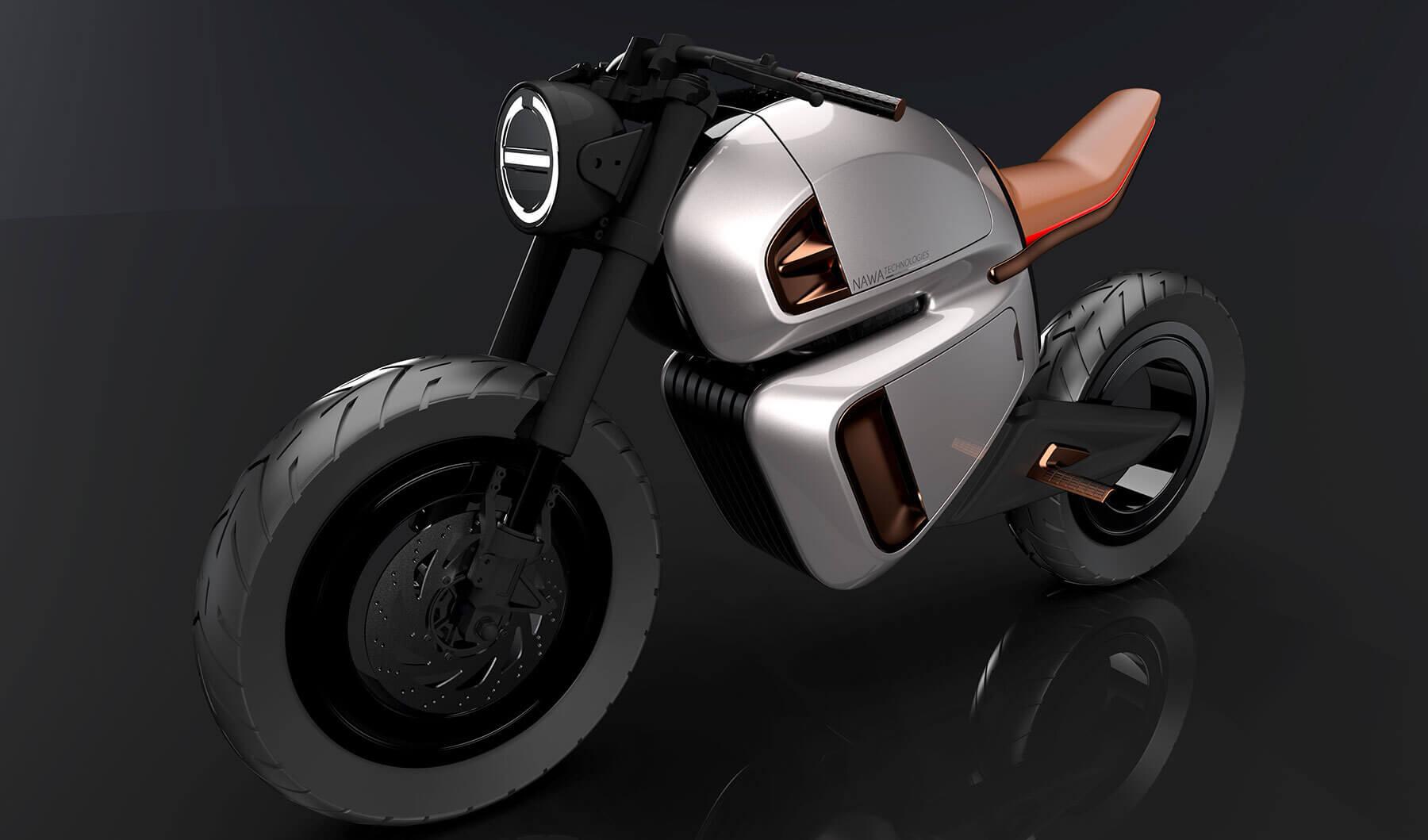 Электрический мотоцикл Nawa Racer использует ультраконденсатор и обычный литий-ионный аккумулятор
