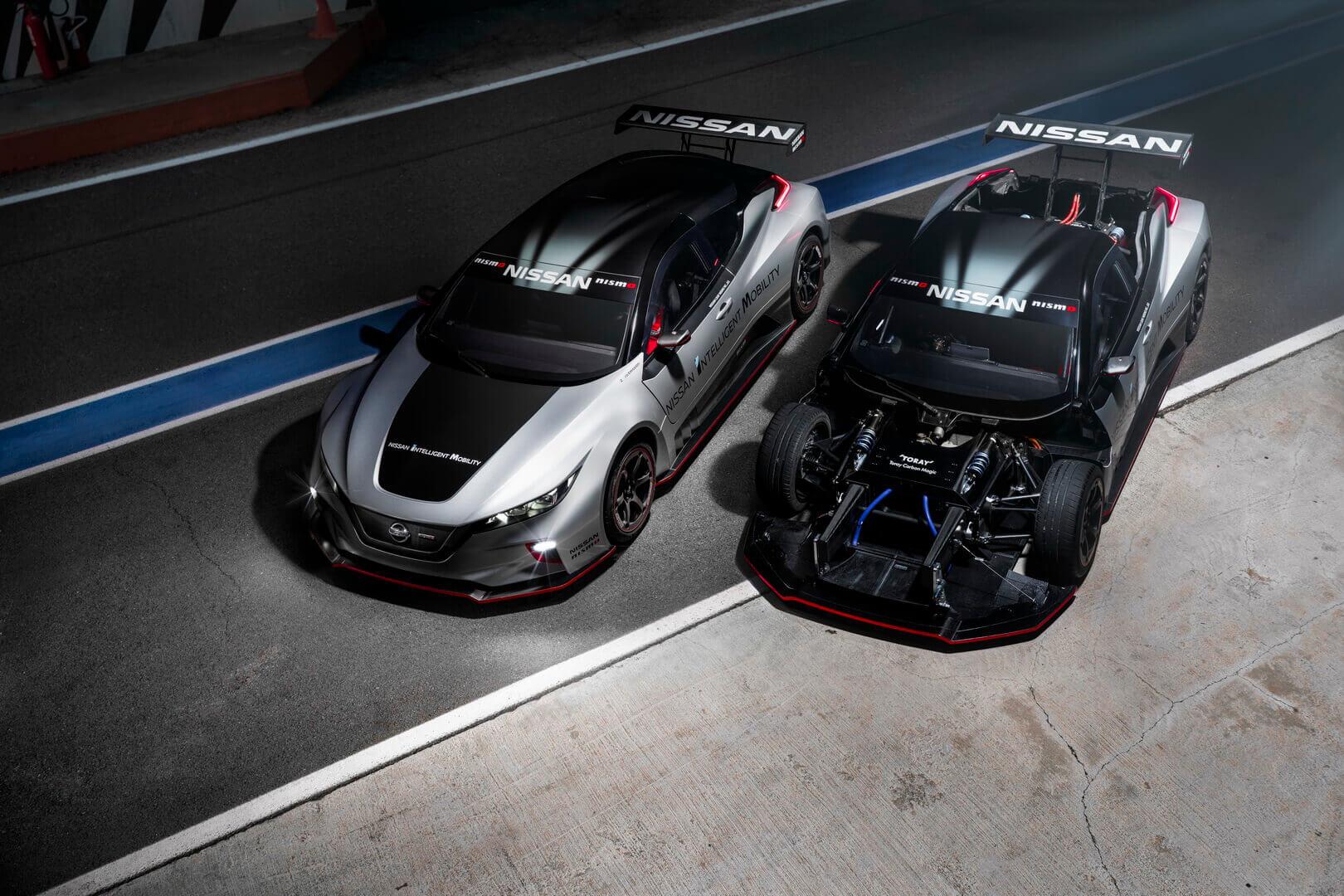 Гоночный электрический автомобиль Nissan LEAF NISMO RC