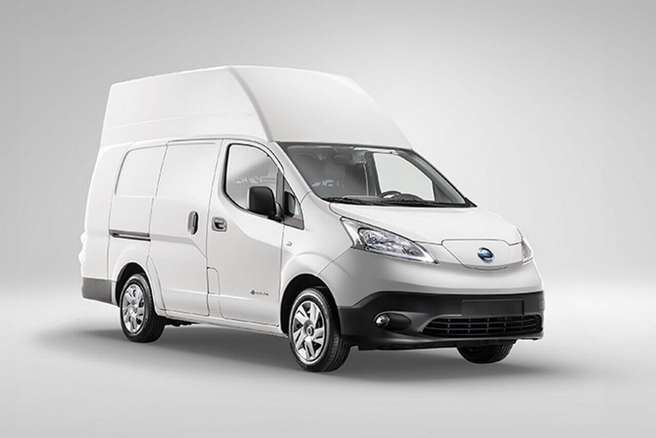 Переоборудованный электрический фургон Nissan e-NV200