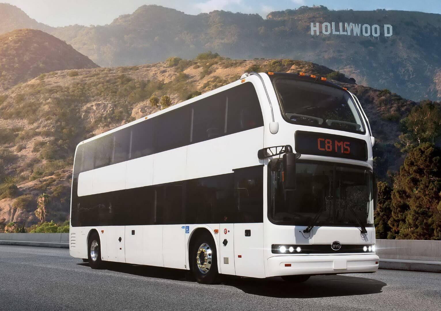Электрический двухэтажный автобус BYD C8MS