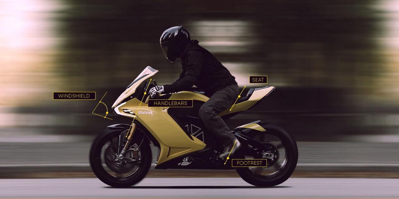 Электробайк Damon Motorcycles сможет менять положения седока