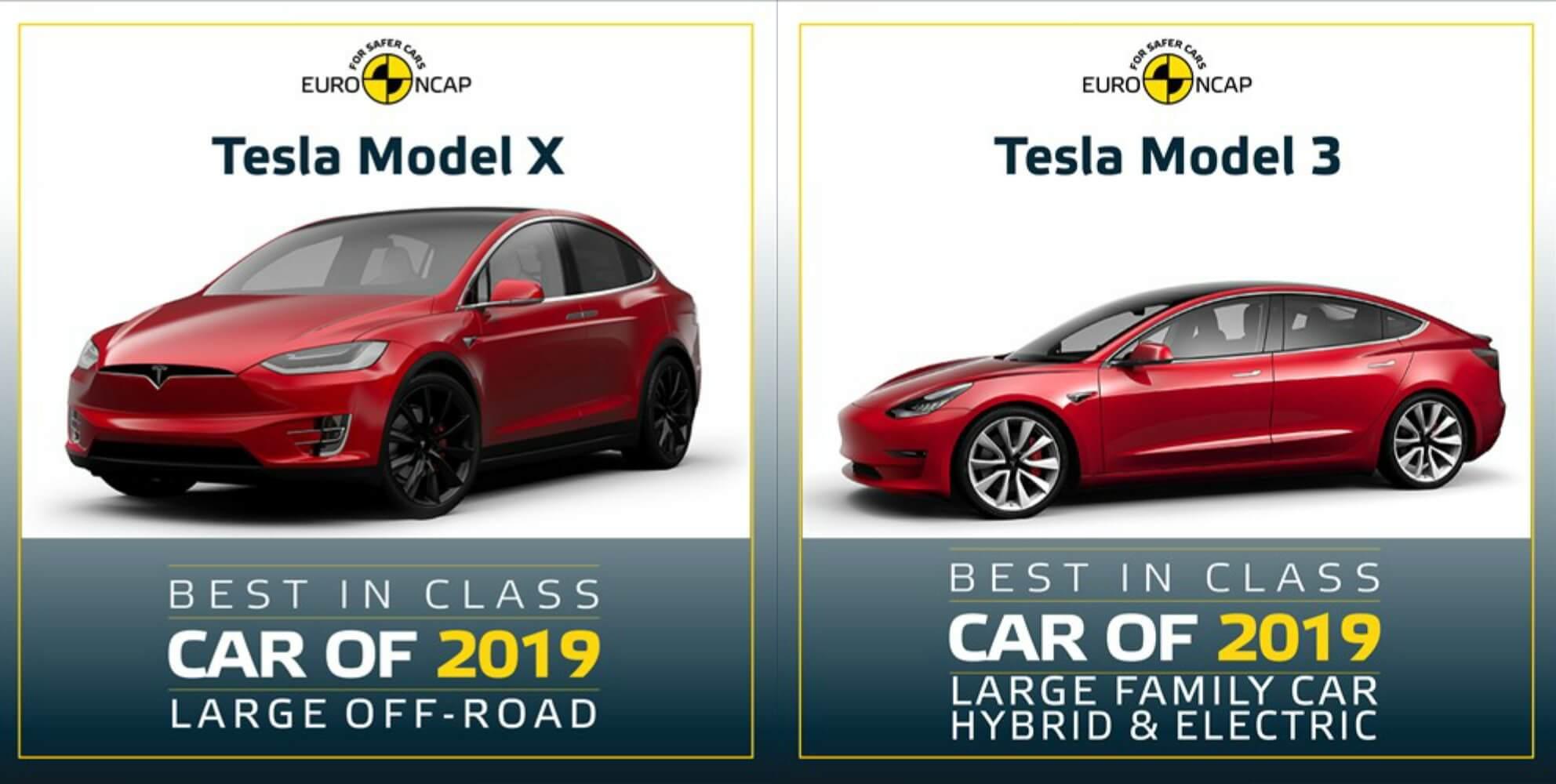 2 модели Tesla вошли в рейтинг самых безопасных авто 2019 от Euro NCAP