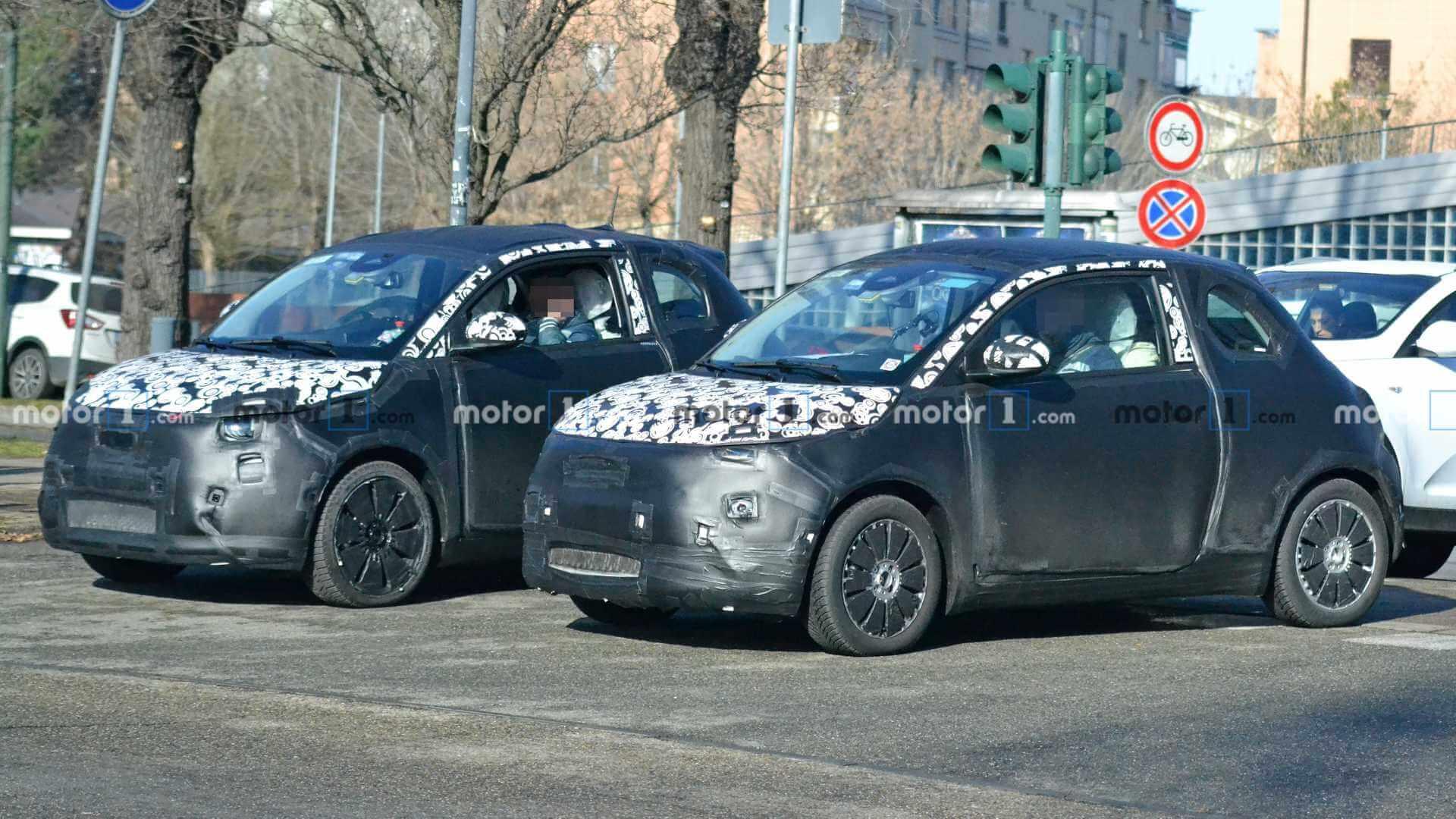 Шпионские фотографии Fiat 500e 2020