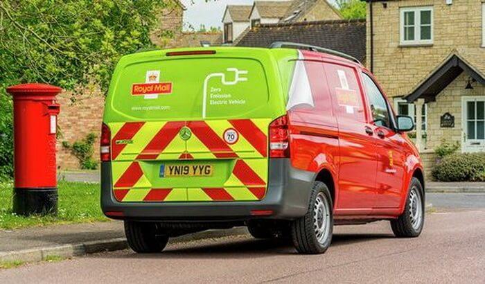 Электрический фургон Mercedes-Benz eVito британской почтовой службы Royal Mail