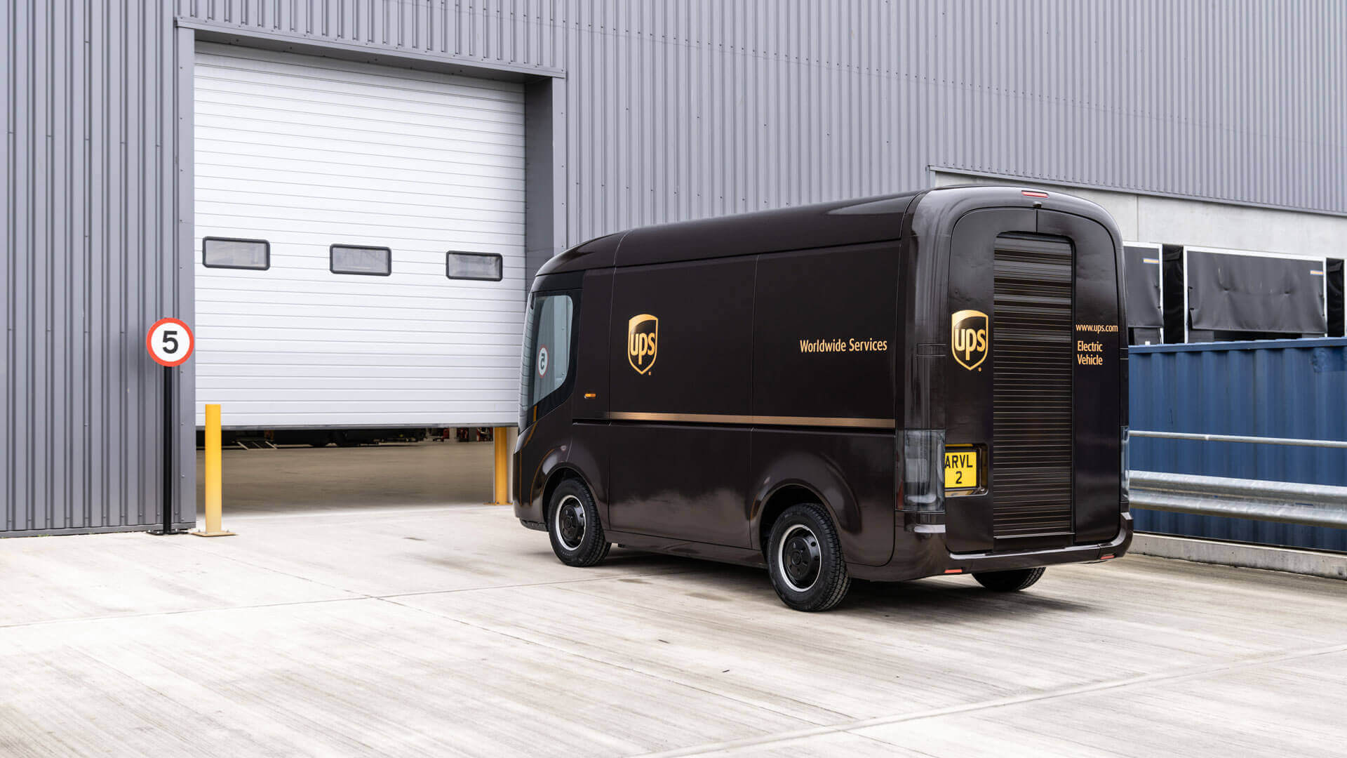 UPS заказывает 10 000 электрофургонов для доставки в Arrival