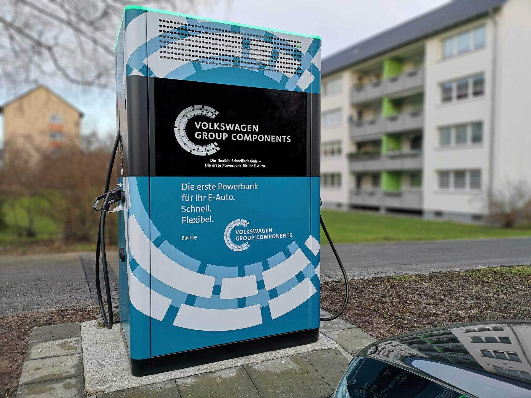 Volkswagen установил 12 мобильных зарядных станций в Вольфсбурге