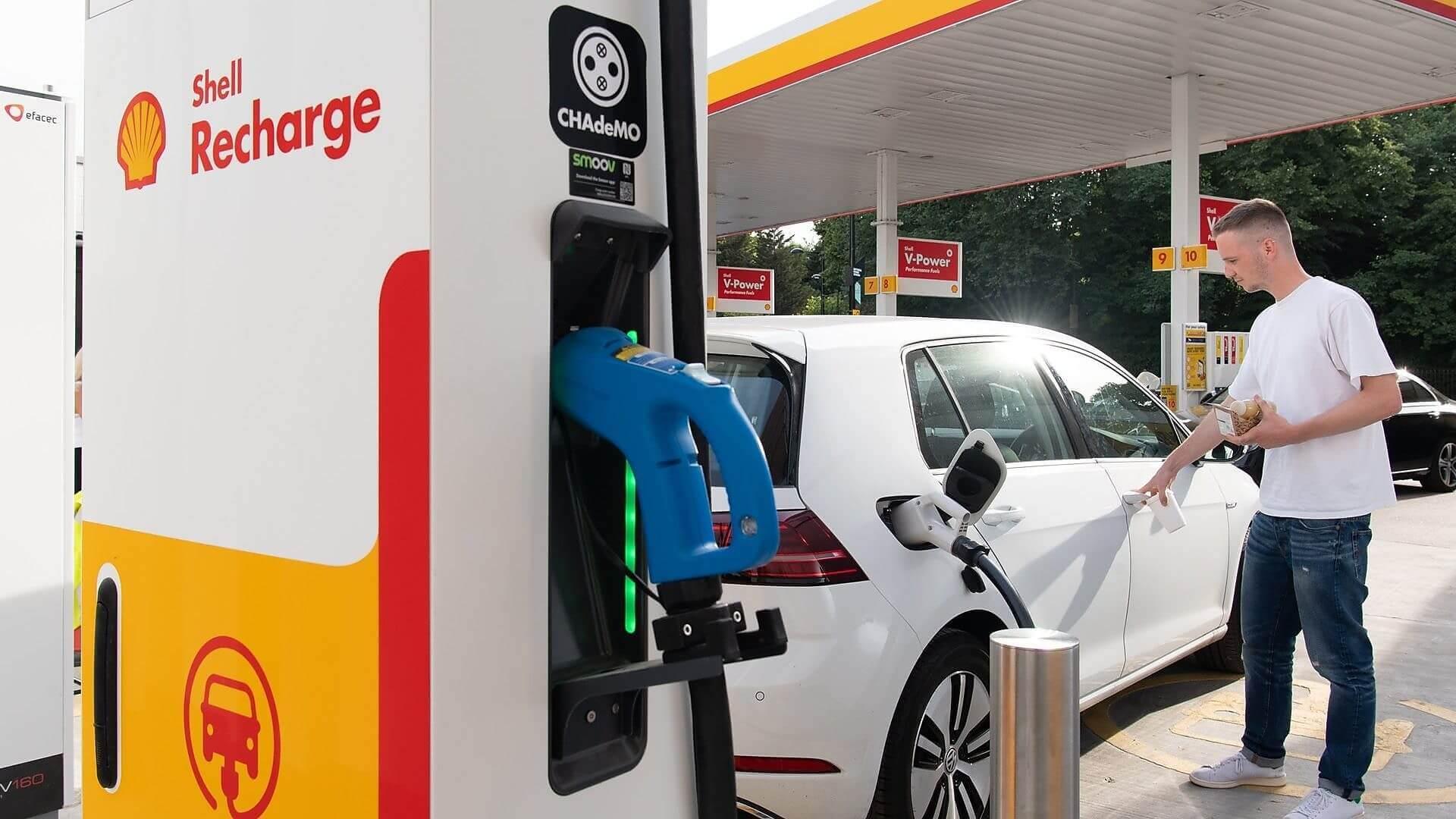 Быстрая зарядная станция для электромобилей от Shell