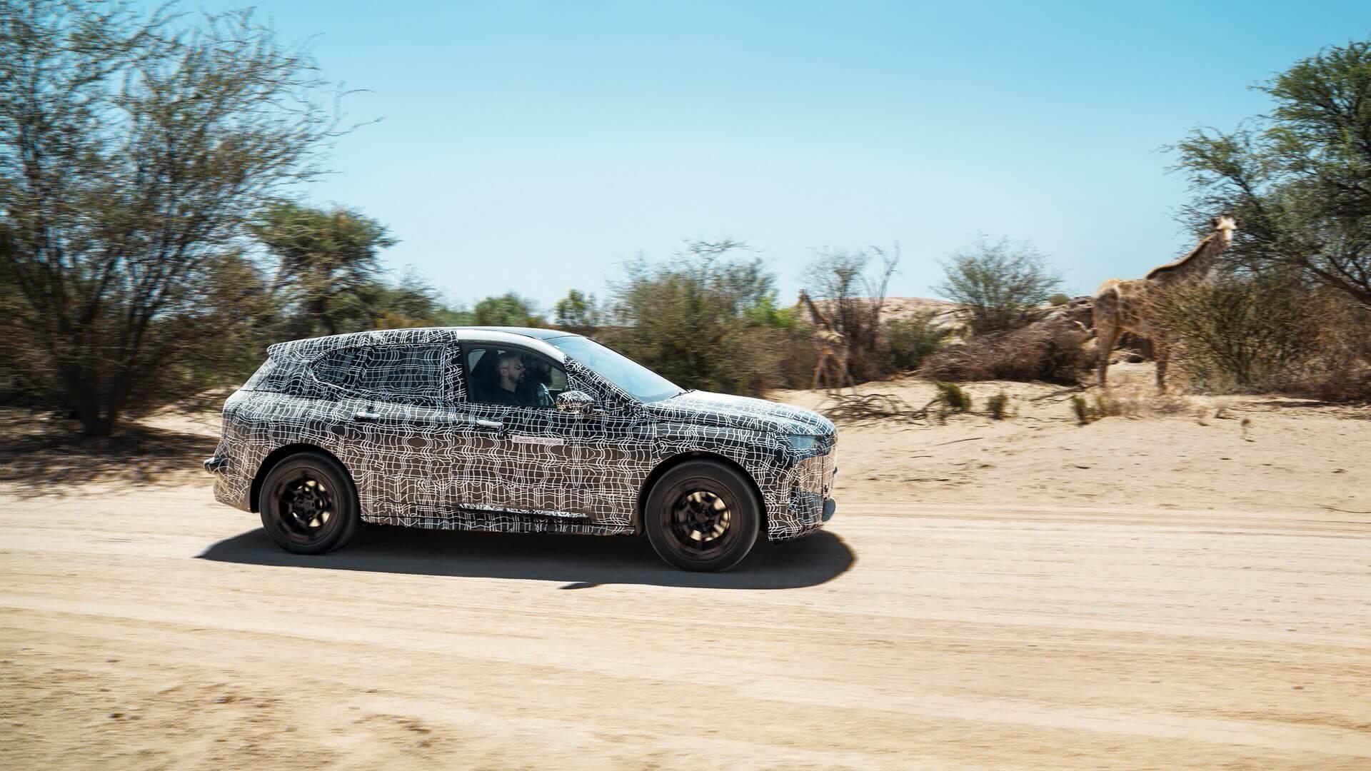 Испытания BMW iNEXT в пустыне Южной Африки