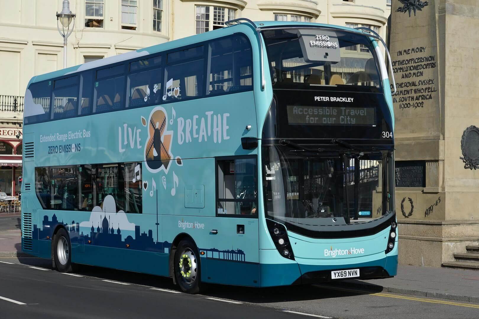 Двухэтажный гибридный автобус Alexander Dennis Enviro400ER