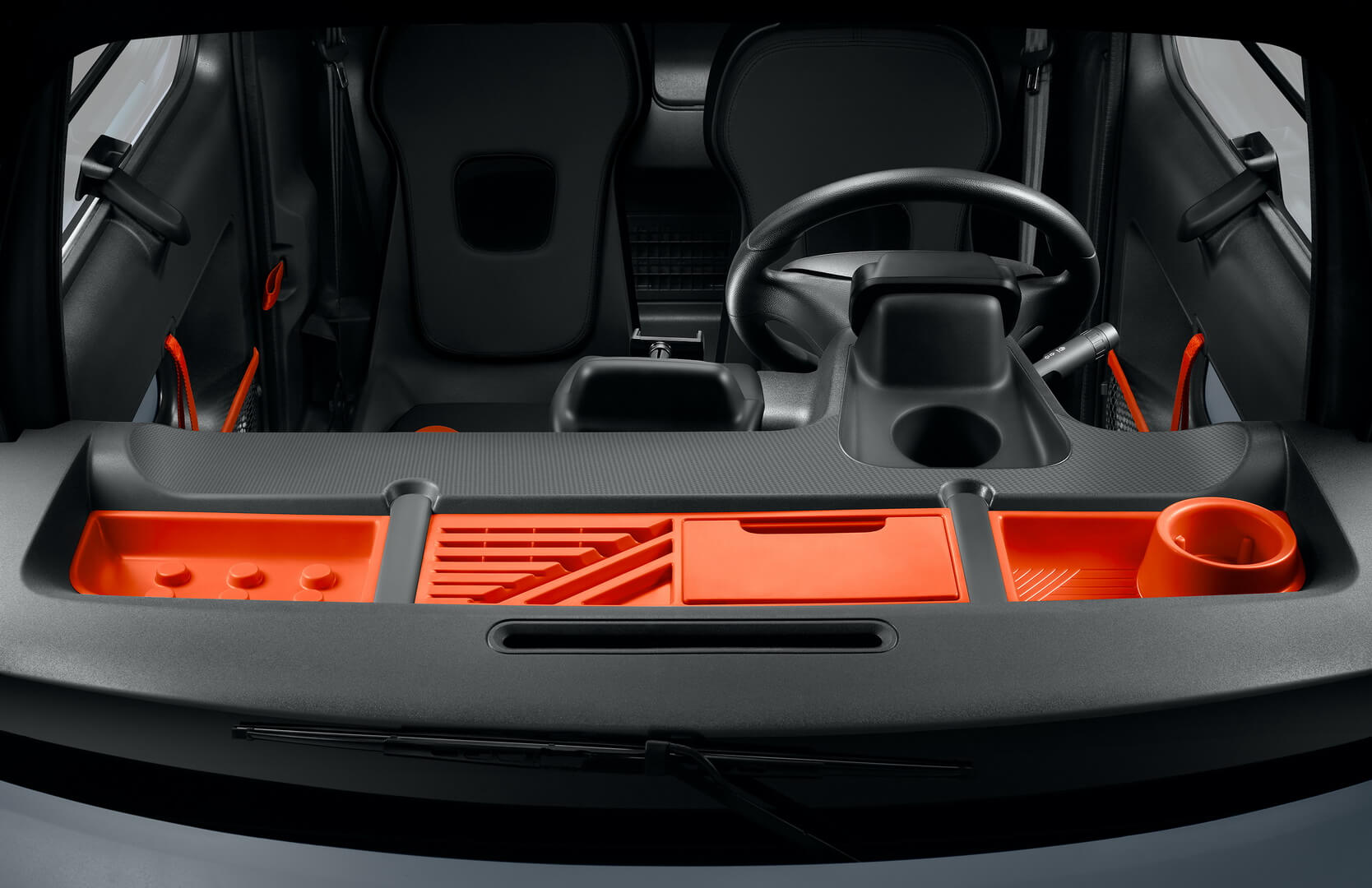Салон миниатюрного электромобиля Citroën Ami