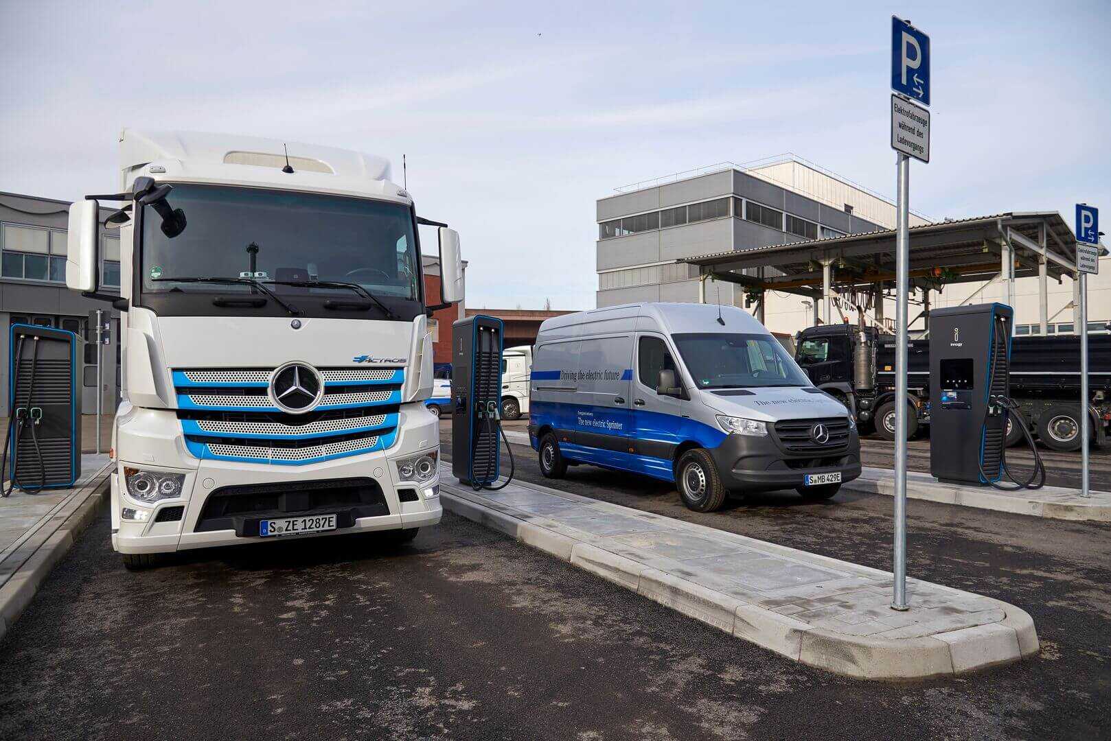 Daimler установил зарядную станцию на 1 МВт для коммерческих электромобилей