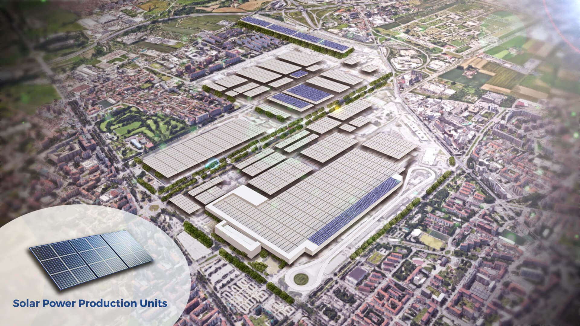 FCA объявила об установке фотоэлектрических панелей по производству солнечной энергии в Мирафиори площадью 150 000 квадратных метров