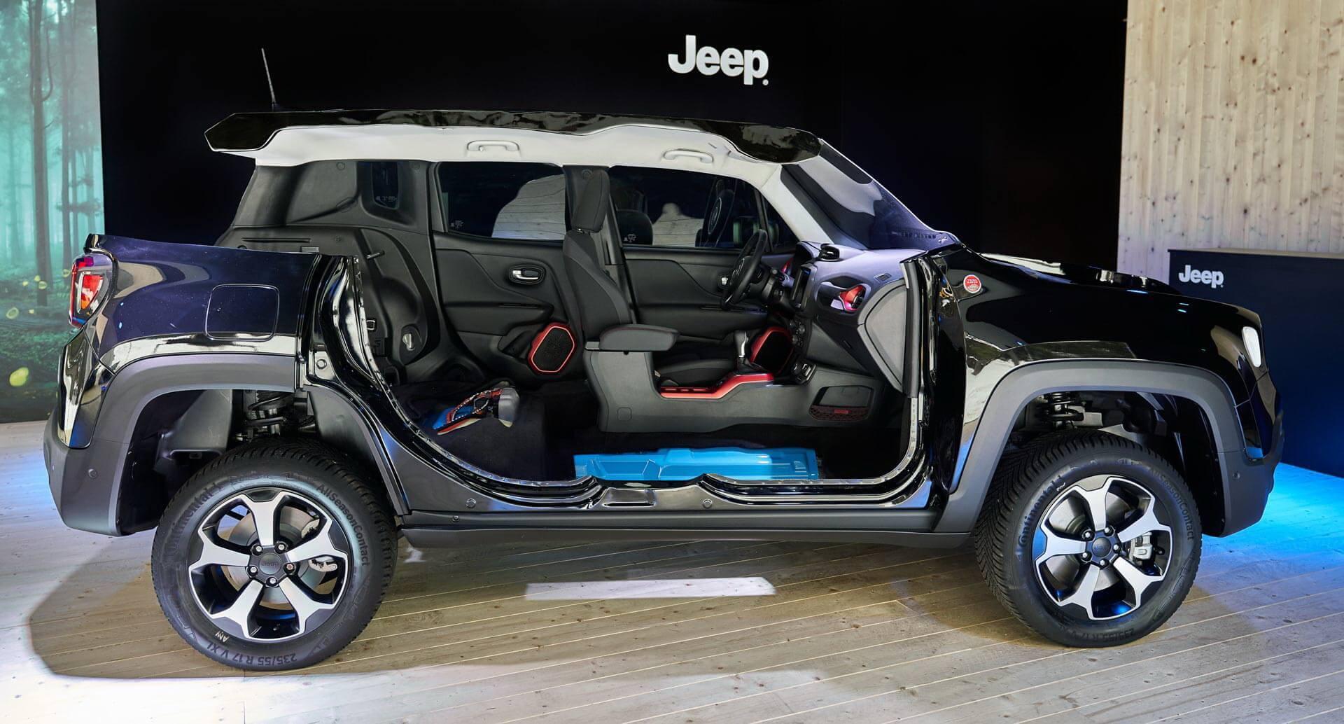 Плагин-гибрид Jeep Renegade 4xe в разрезе
