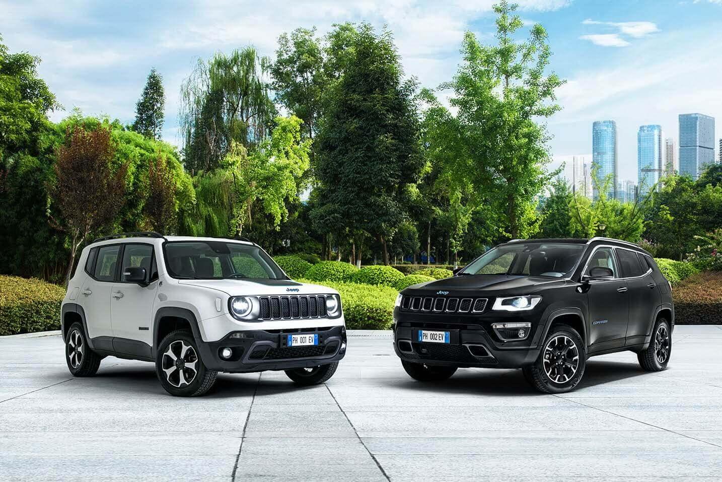 Плагин-гибриды Jeep Renegade 4xe и Compass 4xe