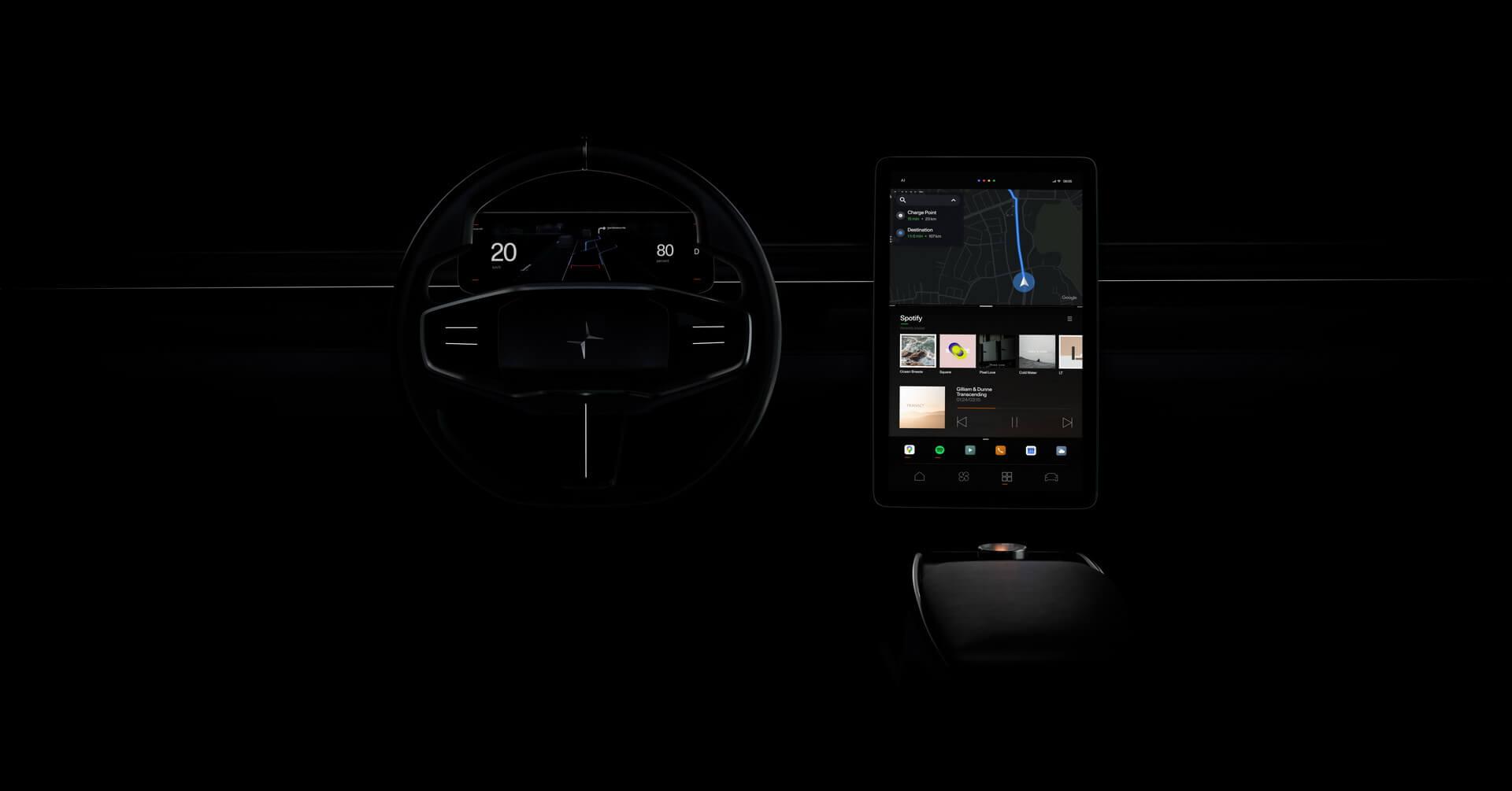 Polestar представляет возможности информационно-развлекательной на базе Android