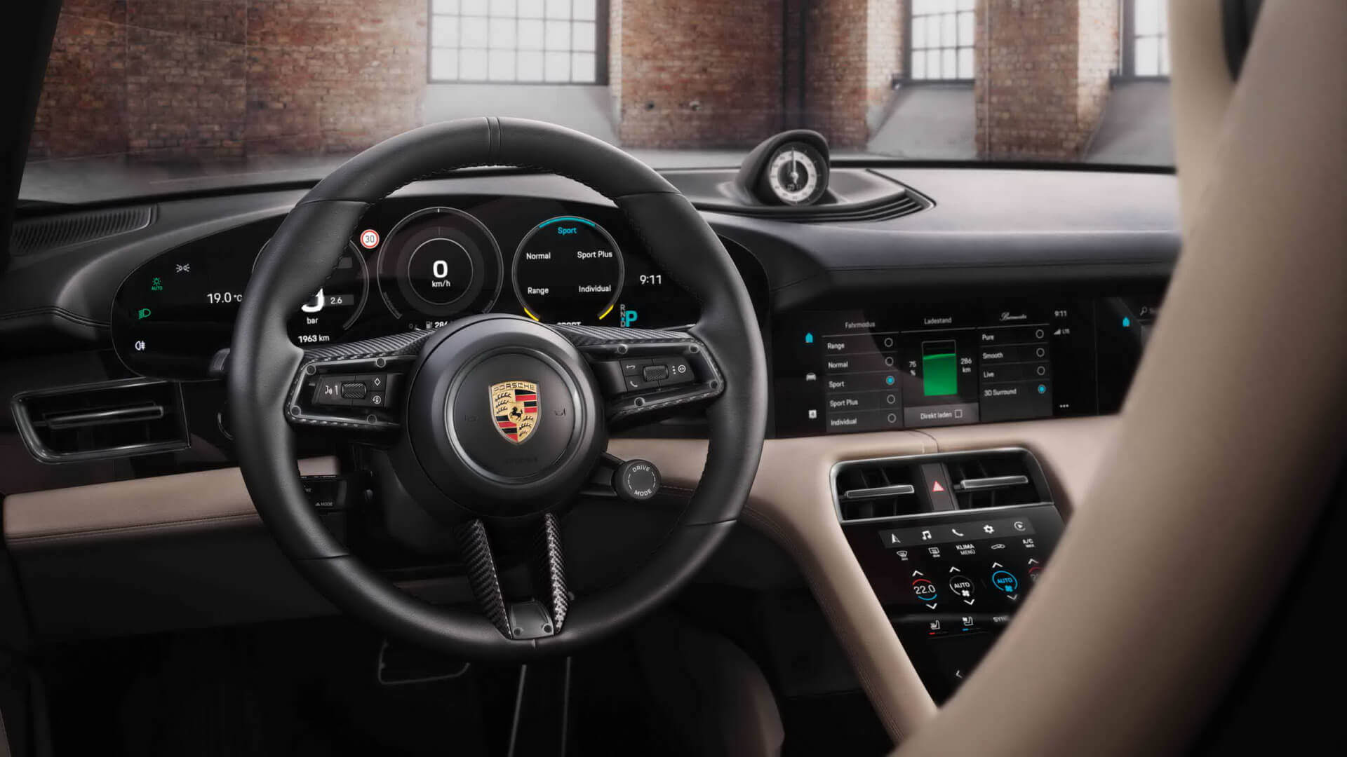 Эксклюзивный интерьер Porsche Taycan