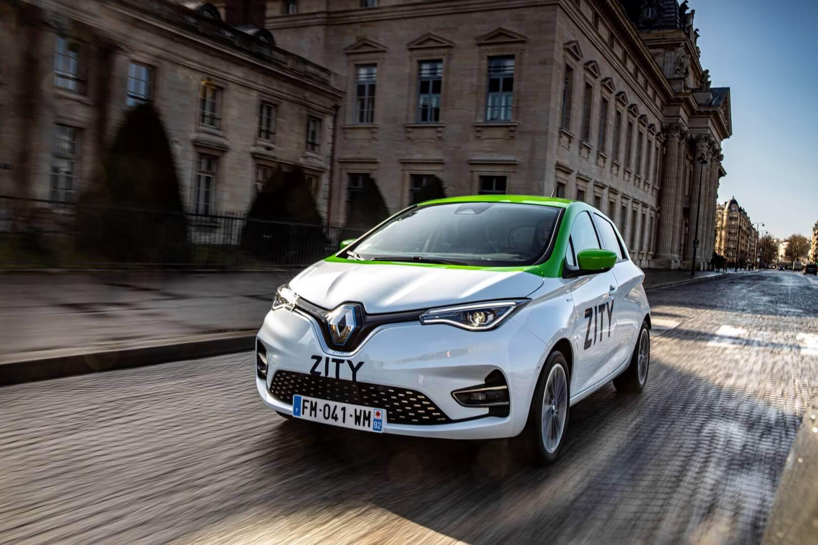 Renault ZOE каршерингового сервиса ZITY