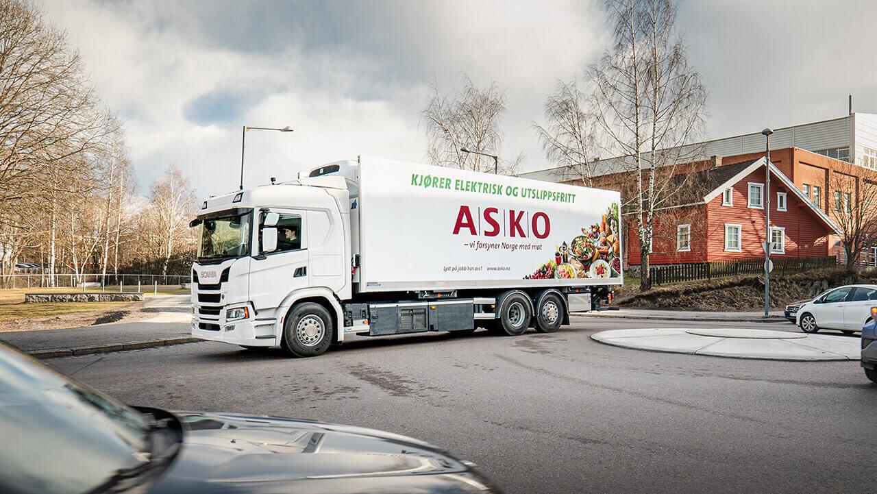 Электрический грузовик Scania в Норвегии