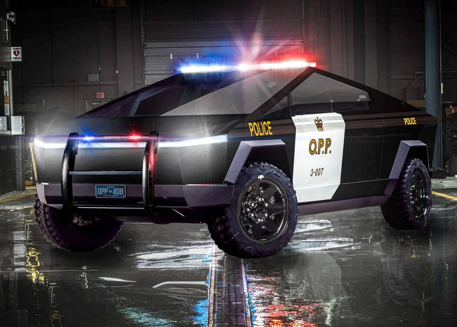 Полицейский Tesla Cybertruck