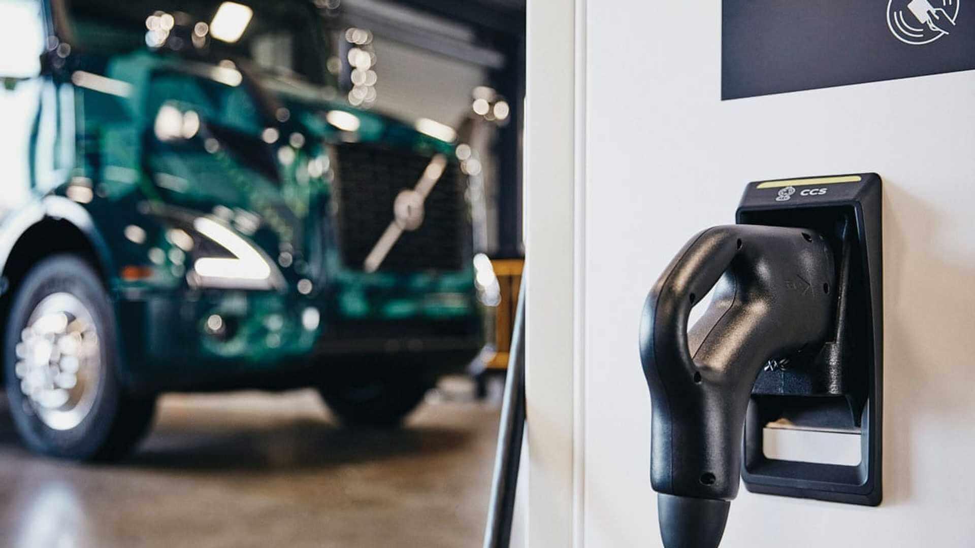 Быстрая зарядная станция для Volvo VNR Electric