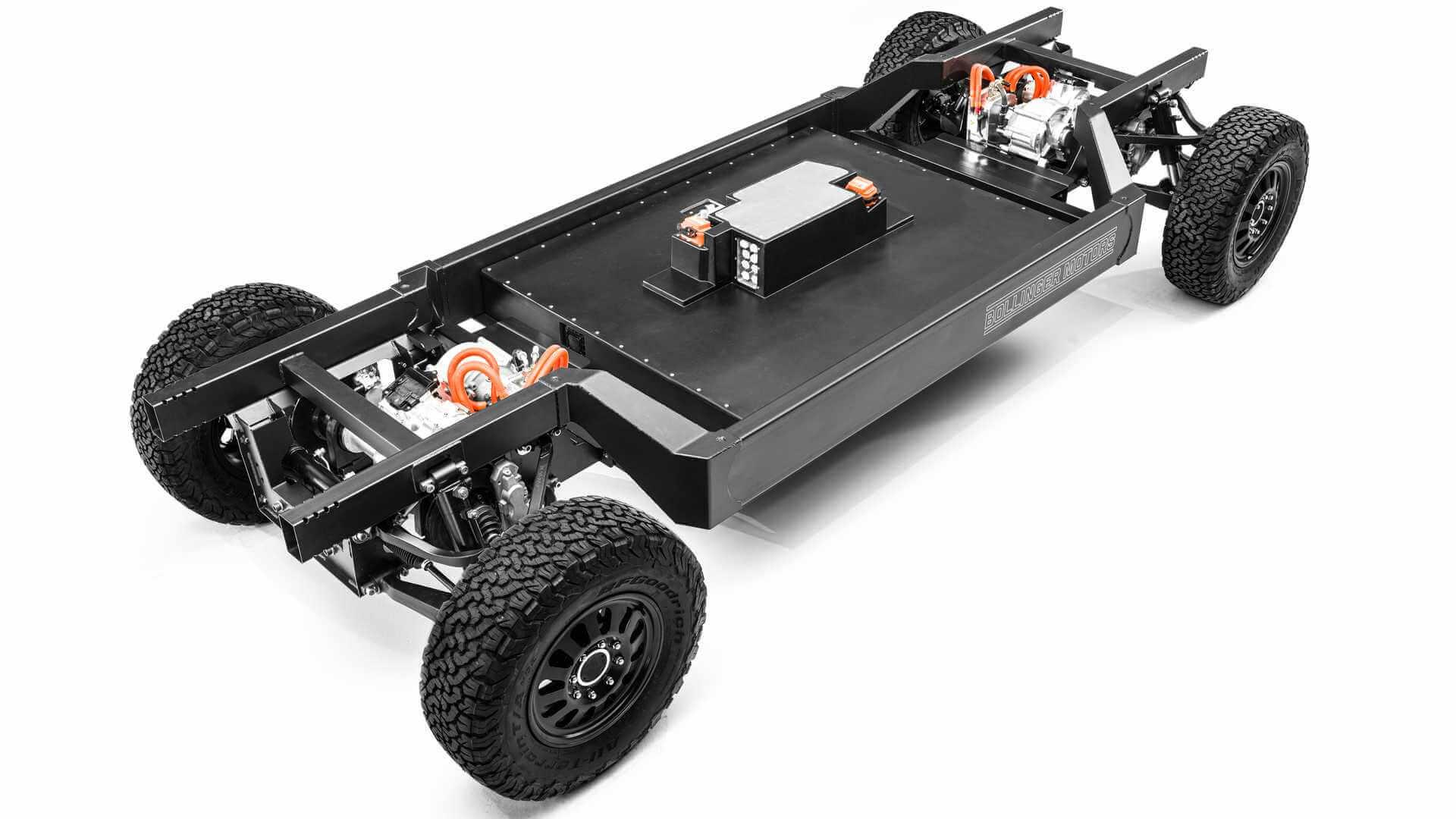 Новая платформа Bollinger E-Chassis для электрических внедорожников