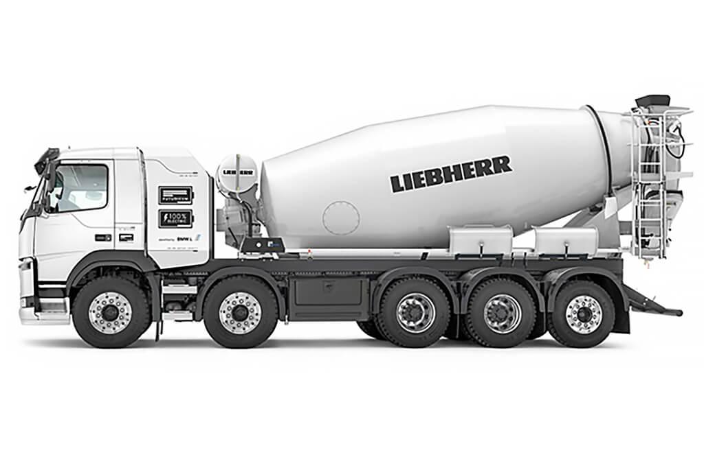 Liebherr представил полностью электрические автобетоносмесители