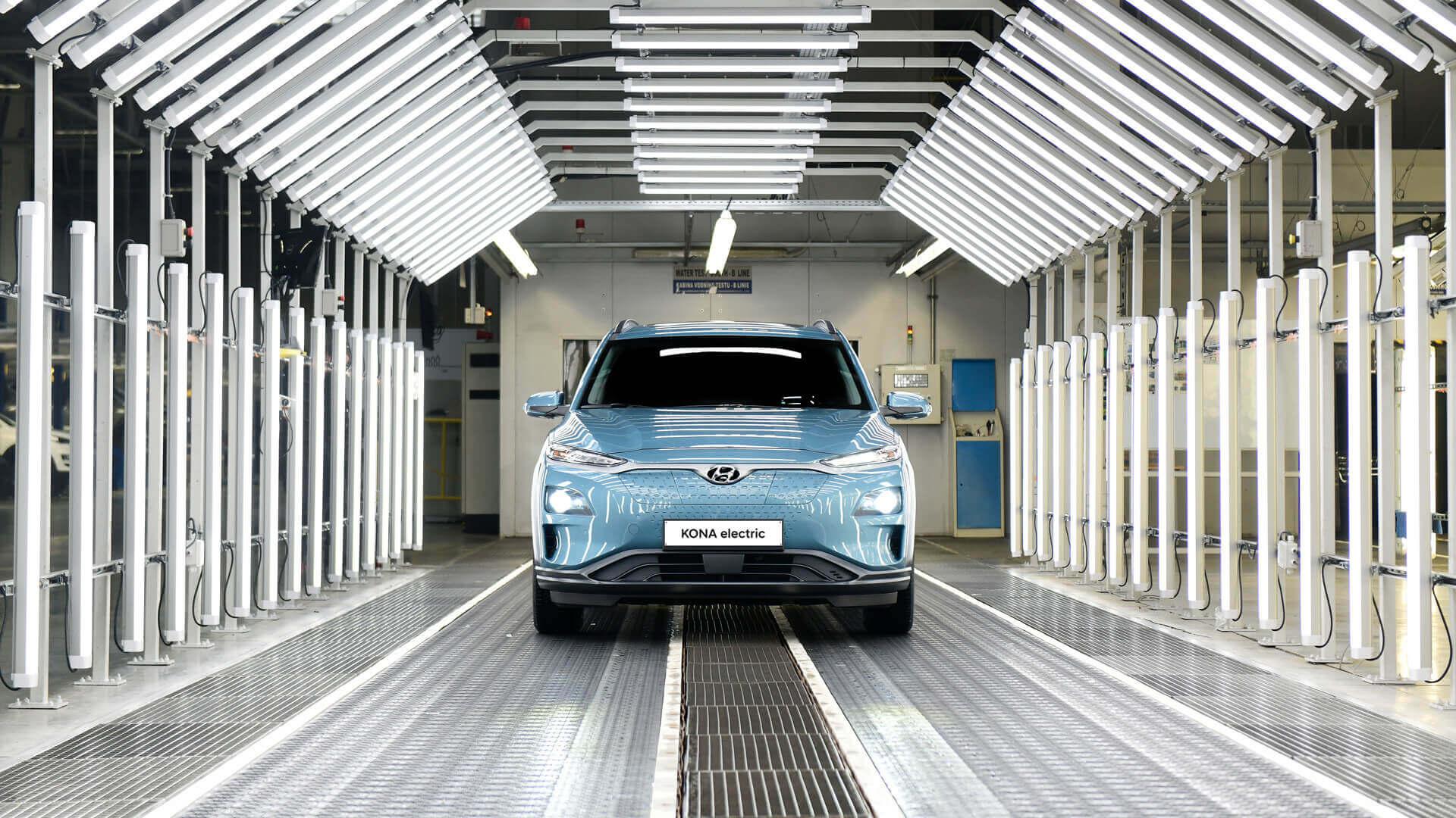Hyundai начал производство Kona Electric в Чехии