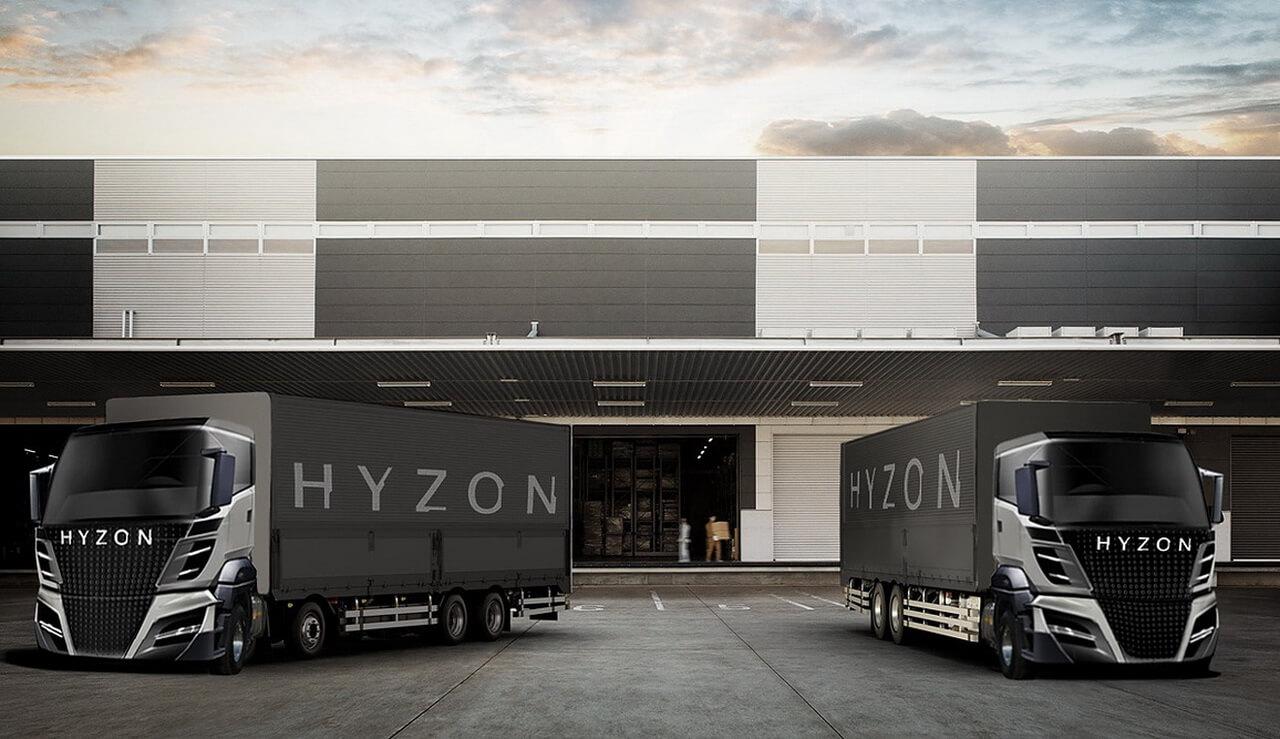 Транспортных средства Hyzon наводородных топливных элементах